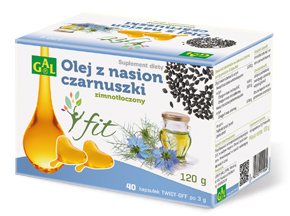 Zimnotłoczony olej z nasion czarnuszki FIT 3 g  40 kapsułek