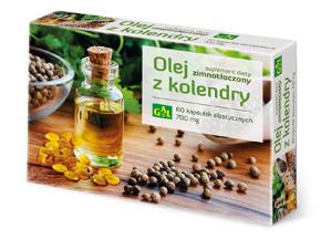Zimnotłoczony olej z kolendry  60 kaps.