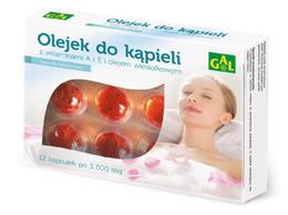 Olejek do kąpieli z  witaminami A i E i olejem wiesiołkowym 3000 mg 12 kaps.