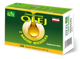 Zimnotłoczony olej z nasion wiesiołka 500 mg 150 kaps.