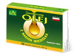 Zimnotłoczony olej z nasion wiesiołka 500 mg 60 kaps.