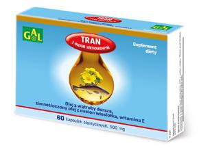 Tran z olejem wiesiołkowym 500 mg 60 kaps.
