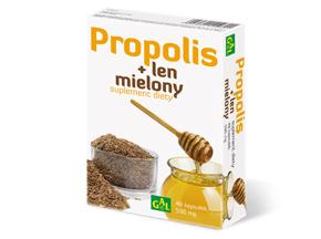 Propolis + Len mielony 48 kaps.