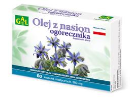 Zimnotłoczony olej z nasion ogórecznika (Biogal) 500 mg 60 kaps.